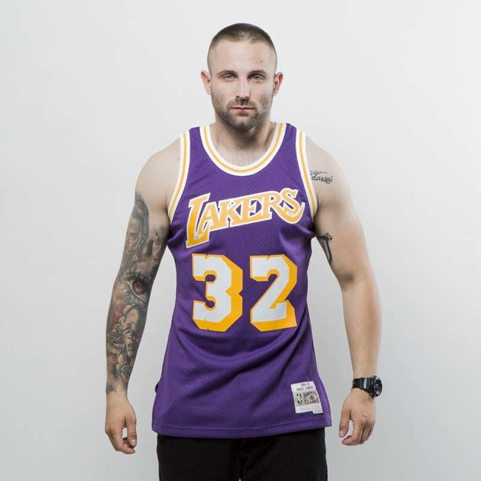 finest selection 02d3d b394d Mitchell & Ness Los Angeles Lakers - Magic Johnson purple Swingman Jersey