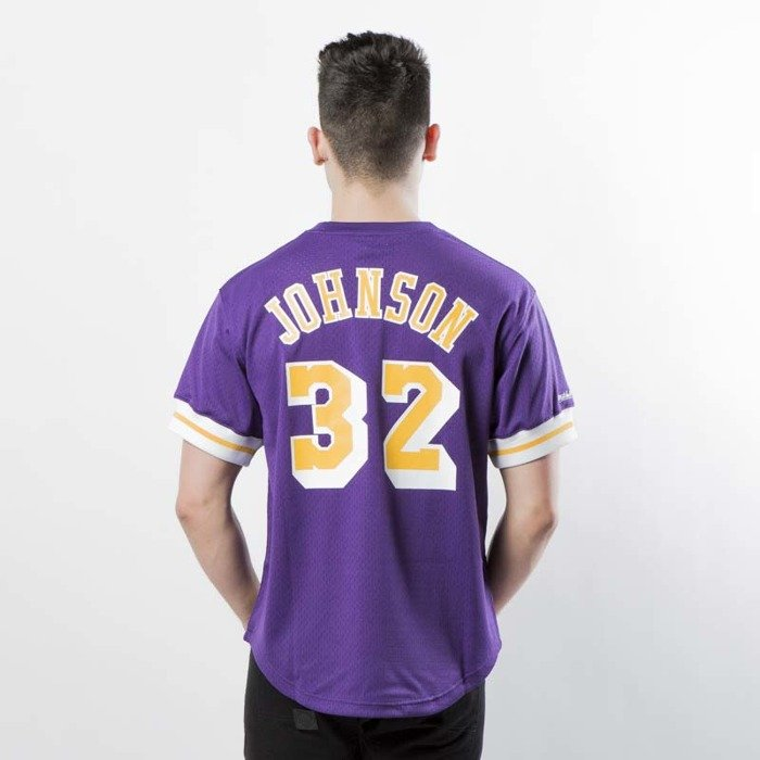 038674482 ... Mitchell   Ness Los Angeles Lakers - Magic Johnson purple   yellow Name    Number Mesh ...