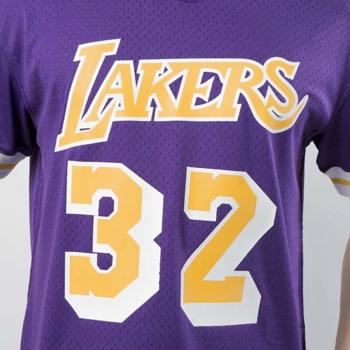 ... Mitchell   Ness Los Angeles Lakers - Magic Johnson purple   yellow Name    Number Mesh ... ccbf3405a