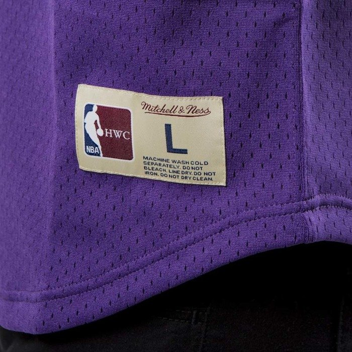 ee83c708a Mitchell   Ness Los Angeles Lakers - Magic Johnson purple   yellow Name    Number Mesh ...