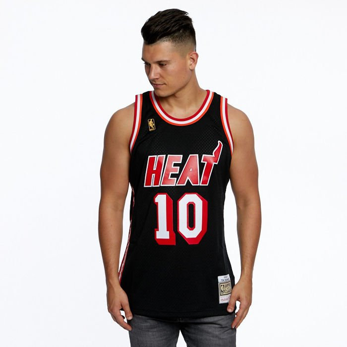 huge discount 40849 032c6 Mitchell & Ness Miami Heat #10 Tim Hardaway black Swingman Jersey