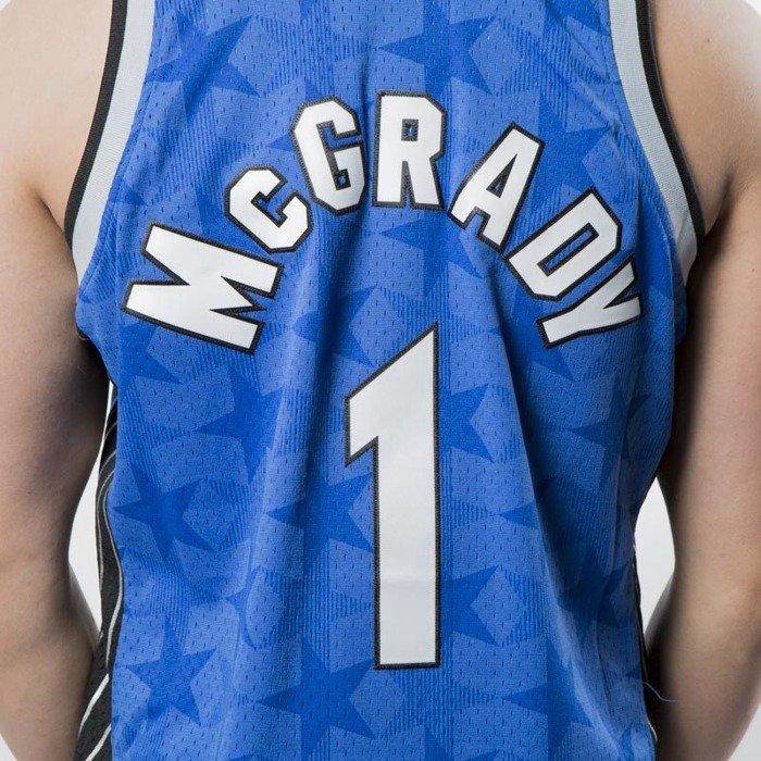 reputable site efd2f c2ca6 Mitchell & Ness Orlando Magic #1 Tracy McGrady blue Swingman Jersey