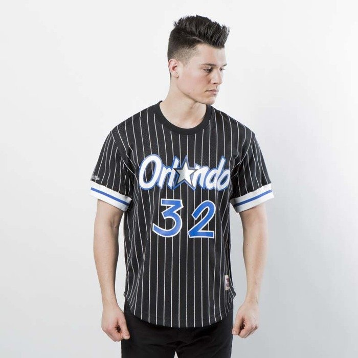 b9020bc0 Mitchell & Ness Orlando Magic - Shaquille O'Neal black / white Name &  Number Mesh Crewneck | Bludshop.com