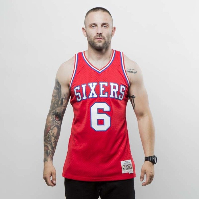 630fcd5086d ... Mitchell   Ness Philadelphia 76ers - Julius Erving red Swingman Jersey  ...