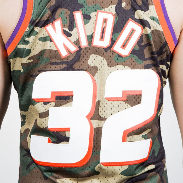 46ae296cf ... Mitchell   Ness Phoenix Suns  32 Jason Kidd camo Swingman Jersey ...