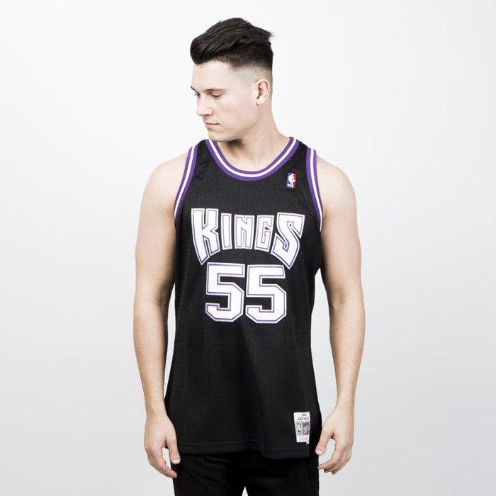 6470cca85 ... Mitchell   Ness Sacramento Kings  55 Jason Williams black purple  Swingman Jersey ...