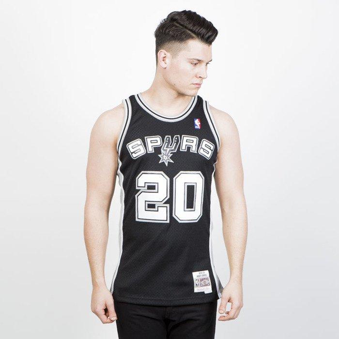 ed565c7f6bd71 ... Mitchell   Ness San Antonio Spurs  20 Manu Ginobili black white  Swingman Jersey ...