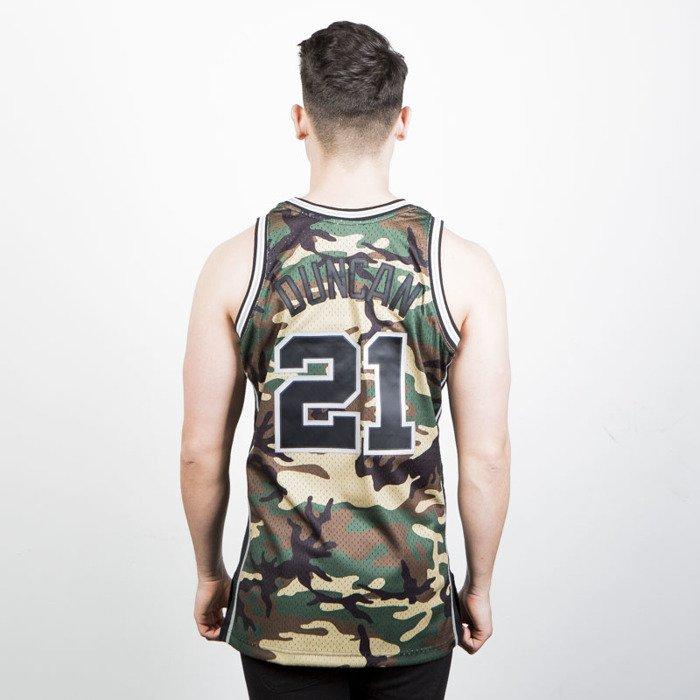 7ee679221 ... Mitchell   Ness San Antonio Spurs  21 Tim Duncan camo Swingman Jersey  ...