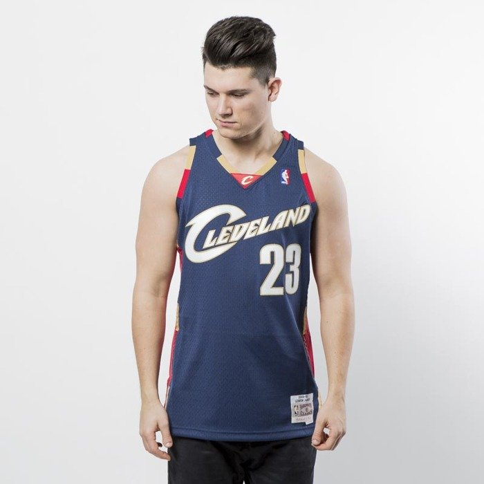 Mitchell   Ness Seattle Cleveland Cavaliers  23 Lebron James navy Swingman  Jersey  16d3099ab