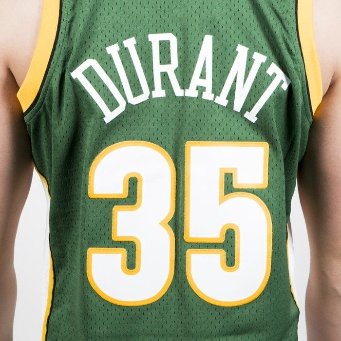... Mitchell   Ness Seattle Supersonics  35 Kevin Durant green white Swingman  Jersey ... 2c255fed3