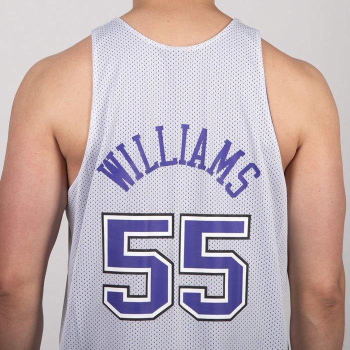 san francisco ef558 07fd2 Mitchell & Ness Tank Top Sacramento Kings #55 Jason Williams purple / white  NBA Reversible Mesh Tank