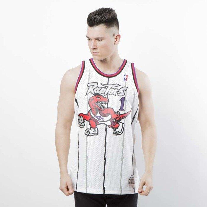 167d67a5e41 Mitchell   Ness Toronto Raptors  1 Tracy McGrady white Swingman Jersey