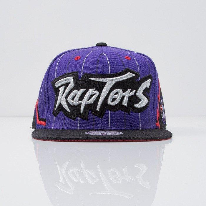 d33a56b8c1d ... Mitchell   Ness Toronto Raptors Snapback Cap purple Team Short Jersey  VF79Z ...