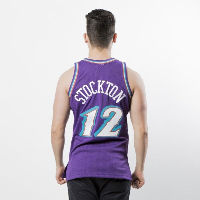 newest c632e 44428 Mitchell & Ness Utah Jazz #12 John Stockton purple Swingman Jersey