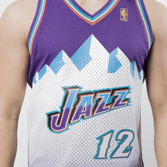 ee4c3cf42 ... Mitchell & Ness Utah Jazz #12 John Stockton purple Swingman Jersey ...