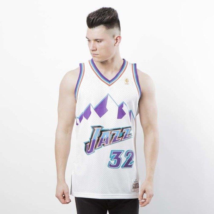 sale retailer f3210 cb6d1 Mitchell & Ness Utah Jazz #32 Karl Malone white Swingman Jersey