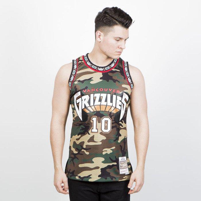 9b773304085 ... Mitchell & Ness Vancouver Grizzlies #10 Mike Bibby camo Swingman Jersey  ...