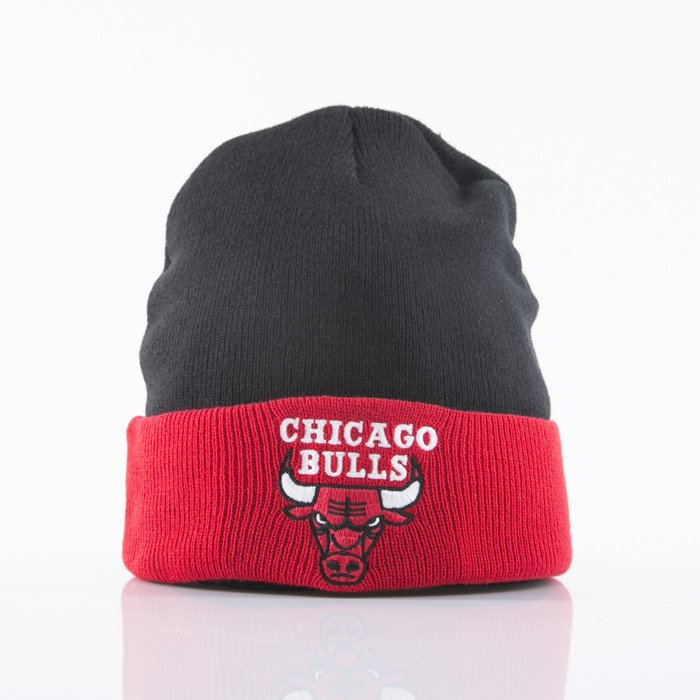 Mitchell   Ness beanie Chicago Bulls black red 2Tone Cuff EU174 ... 050b0d98126