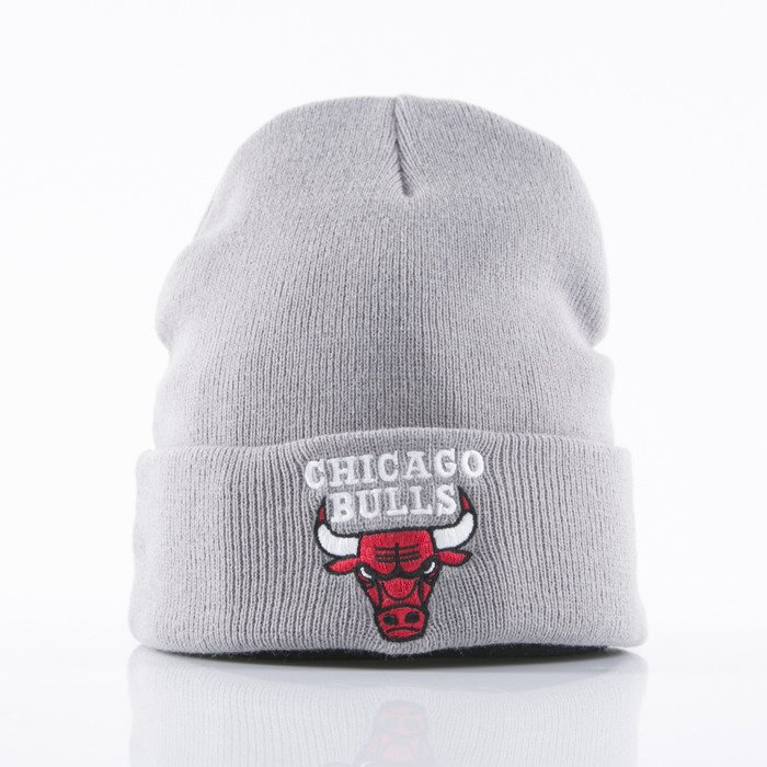 ... Mitchell   Ness beanie Chicago Bulls grey Cuff Knit SN001 ... c6f94ac7684