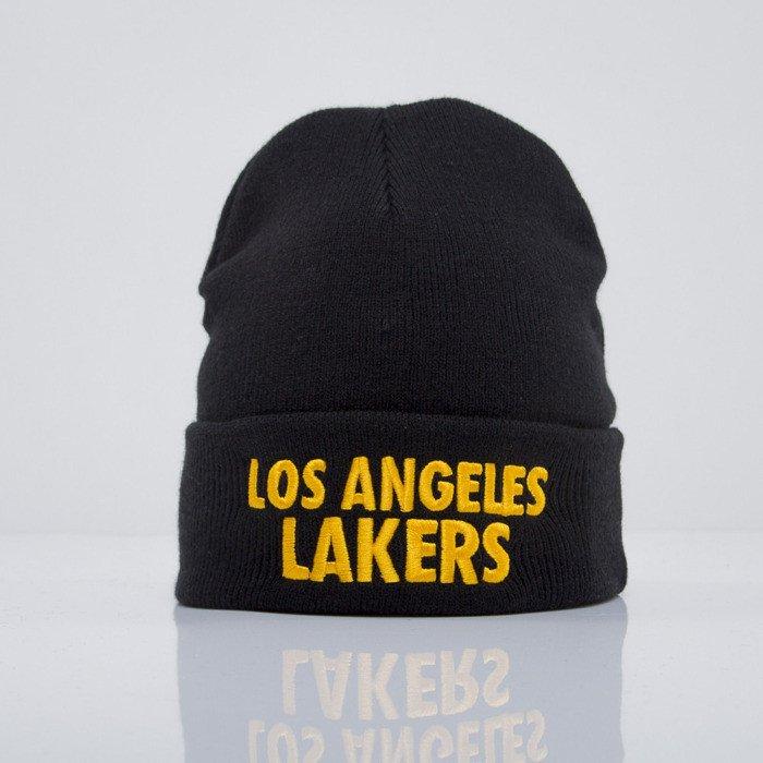 e92d679afa1a Mitchell   Ness beanie Los Angeles Lakers black Headline EU253 ...