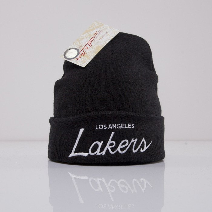 ... Mitchell   Ness beanie Los Angeles Lakers black Team Talk EU175 ... 7a4c8551a
