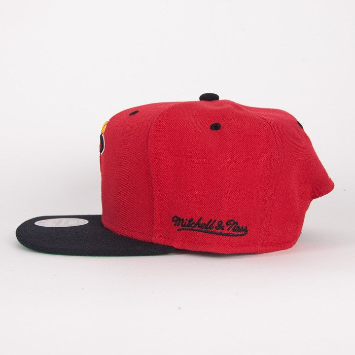 best loved 932a1 8b16e ... Mitchell   Ness cap Miami Heat black   red Flipside ...