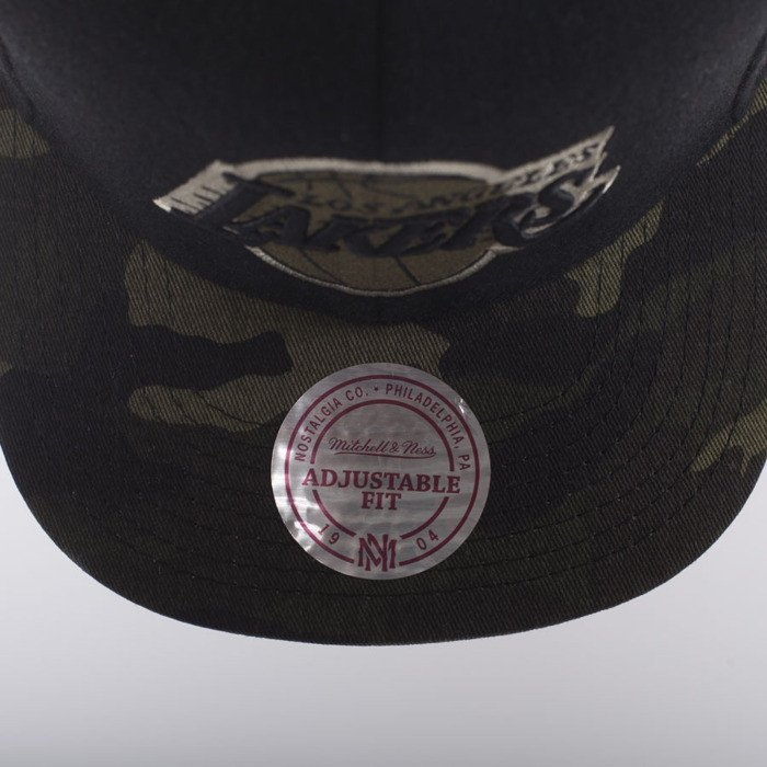 premium selection eafbf 64ad9 new zealand mitchell ness cap new los angeles lakers black combat eu275  079d0 6033e