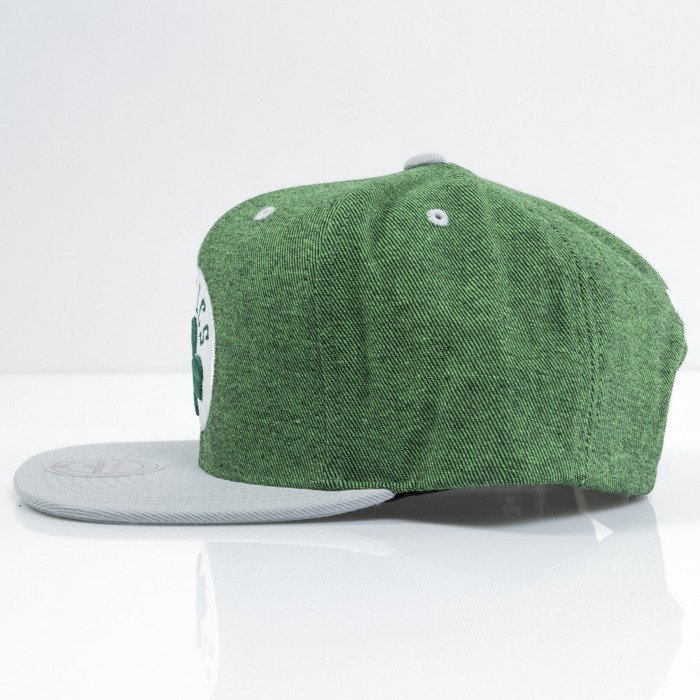 buy popular c108f 6679d ... Mitchell   Ness cap snapback Boston Celtics green Denim Harry VE87Z ...
