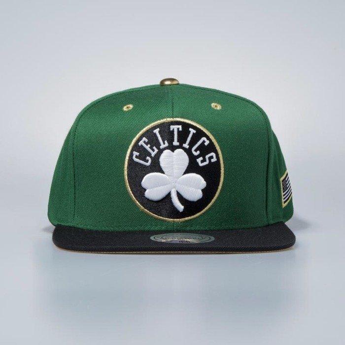reputable site 38e9c 3b8bc ... authentic mitchell ness cap snapback boston celtics green gold eb1d5  b0dc0