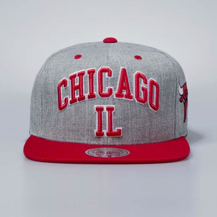 huge discount b920d 5b367 ... low price mitchell ness cap snapback chicago bulls grey heather side  panel cropped bludshop 94127 8f3f2