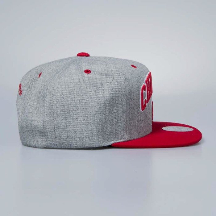 huge selection of 366fe b22cc ... amazon mitchell ness cap snapback chicago bulls grey heather side panel  cropped a0f23 c4626