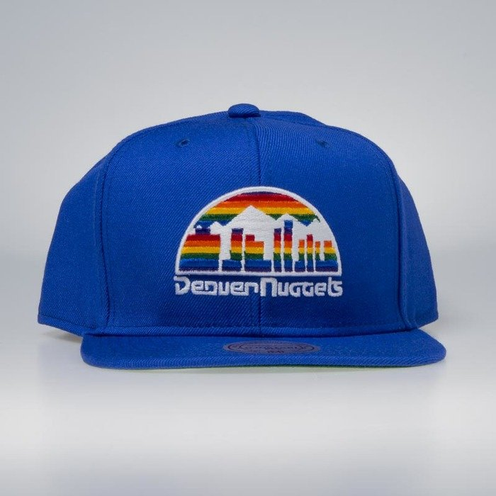 ed30c8e023b Mitchell   Ness cap snapback Denver Nuggets blue Wool Solid   Solid ...