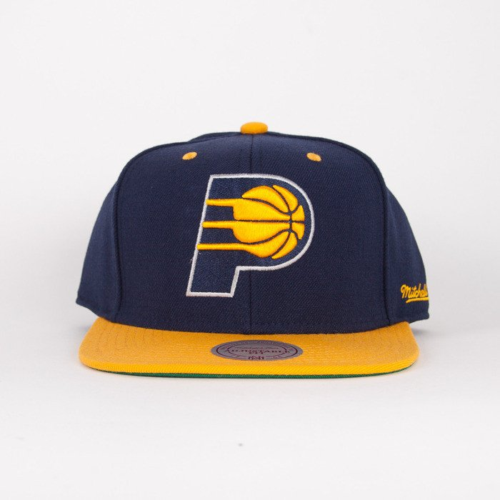 check out c4396 a49d7 Mitchell & Ness cap snapback Indiana Pacers navy / yelow Flipside