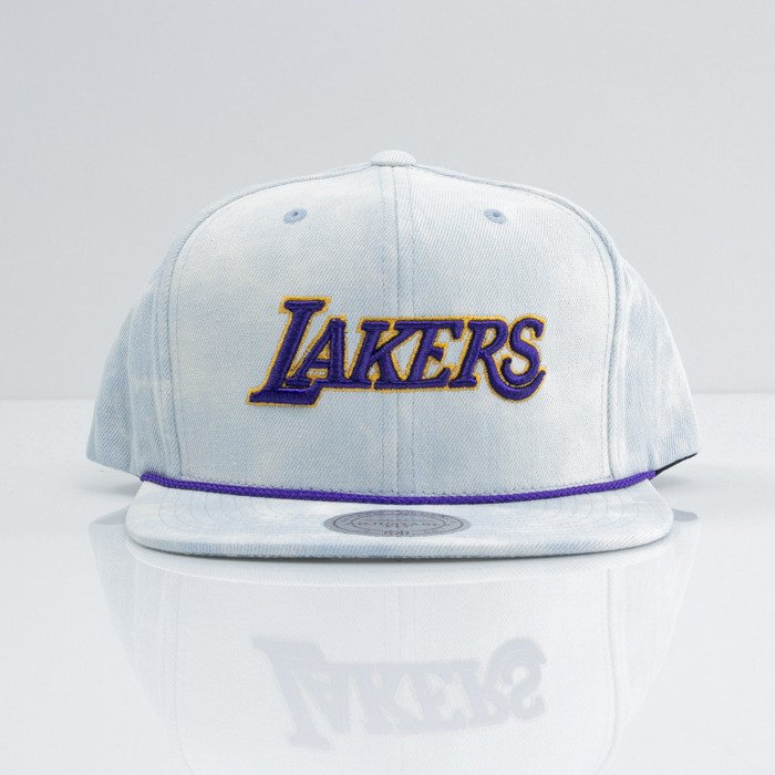 26faaf6b2f5 ... Mitchell   Ness cap snapback Los Angeles Lakers blue Light Acid Washed  VE98Z ...