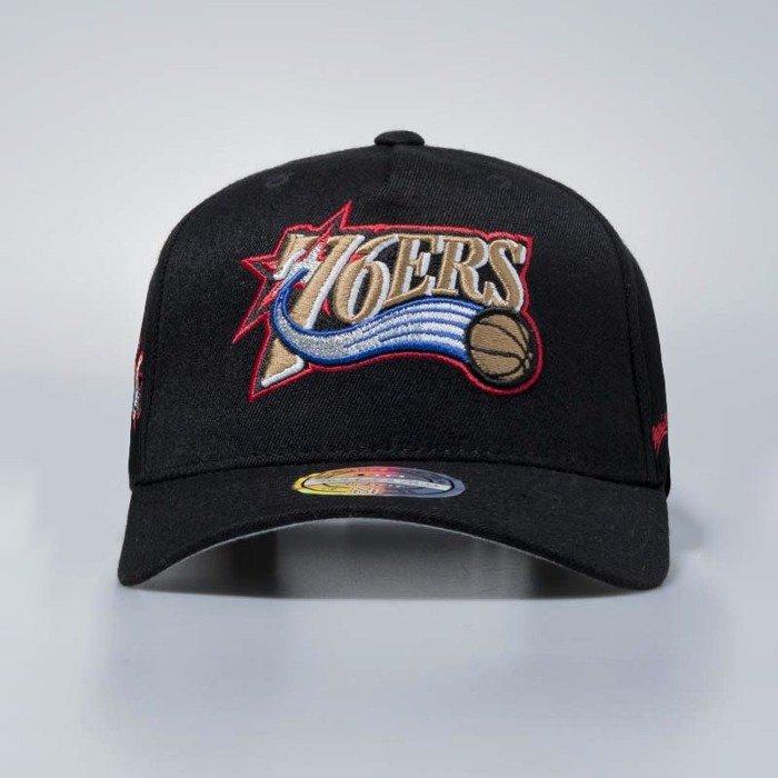 5a789bbaebf ... Mitchell   Ness cap snapback Philadelphia 76ers black Eazy Flexfit ...