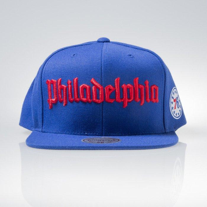 ef54a4f62b8724 Mitchell & Ness cap snapback Philadelphia 76ers blue GOTHAM CITY VW49Z    Bludshop.com