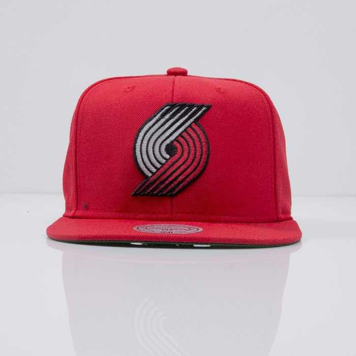 6664bd407fb ... Mitchell   Ness cap snapback Portland Trailblazers red WOOL SOLID ...