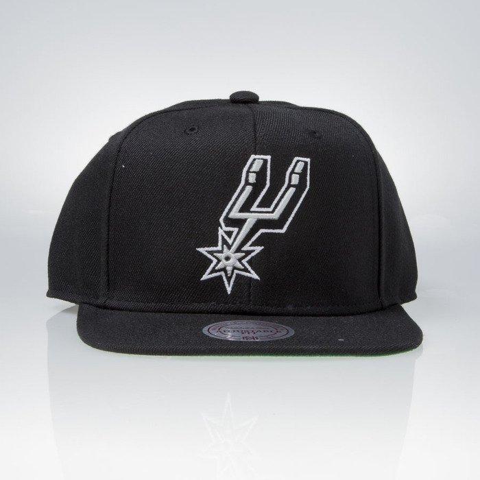 finest selection 1e421 5a3ff Mitchell   Ness cap snapback San Antonio Spurs black WOOL SOLID NL99Z    Bludshop.com