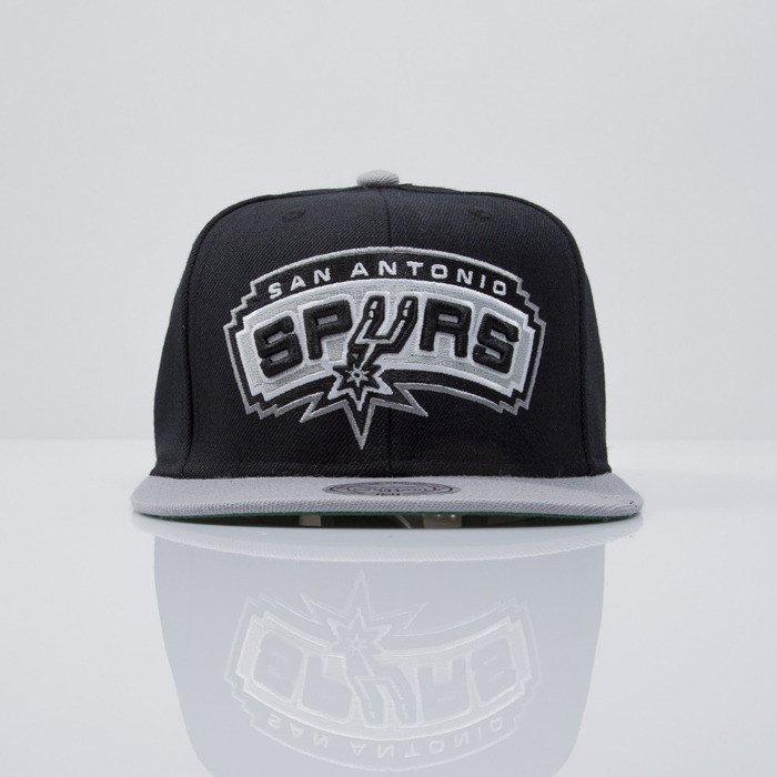 online store 65235 ad6f1 ... Mitchell   Ness cap snapback San Antonio Spurs black XL LOGO 2Tone  NM04Z ...