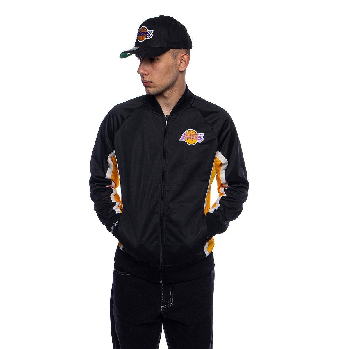 Mitchell Ness Jacket Los Angeles Lakers Black Championship Game Track Jacket Bludshop Com