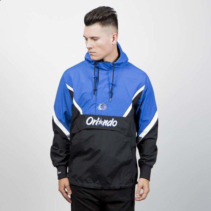 78ca4804a57 Mitchell   Ness jacket Orlando Magic Half Zip Anorak Jacket black blue