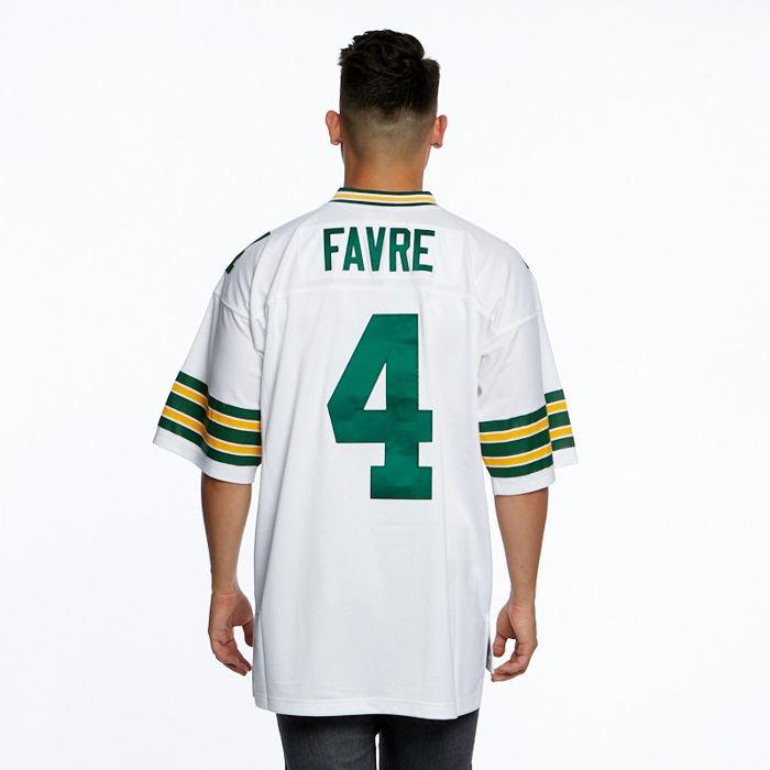 wholesale dealer 95d28 e96f4 Mitchell & Ness jersey Green Bay Packers #3 Brett Favre white NFL Legacy  Jersey