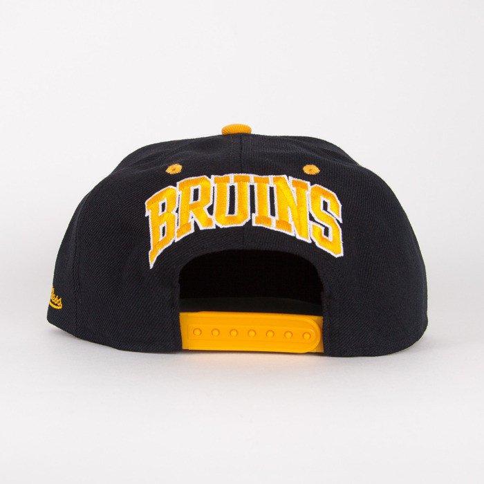 premium selection 57f7c 56a9f ... Mitchell   Ness snapback Boston Bruins black   yelow Flipside ...