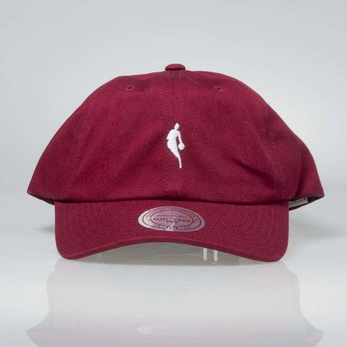 bc6bda16 ... Hat; Mitchell & Ness snapback NBA burgundy / white INTL053 Little  Dribbler Dad ...
