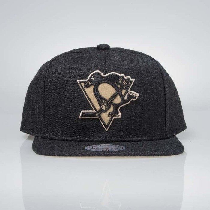 8d800aeb5be ... Mitchell   Ness snapback Pittsburgh Penguins black INTL034 Team Heather  ...