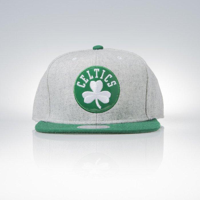Mitchell   Ness snapback cap Boston Celtics grey heather   green Melange  Flannel EU912  5d2a47aa3cd