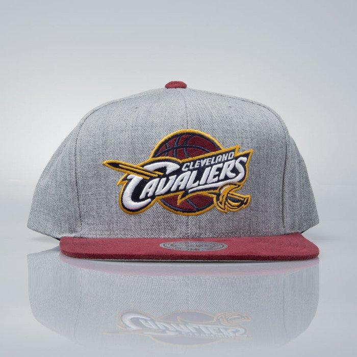 Mitchell   Ness snapback cap Cleveland Cavaliers grey heather   burgundy  VO59Z HEATHER MICRO  d1fee41cdb48