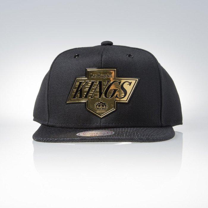 b6a699faf40 Mitchell   Ness snapback cap Los Angeles Kings black Carat EU863 ...