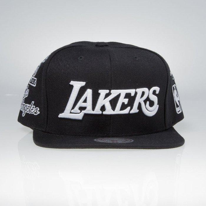 718f16a79bb Mitchell   Ness snapback cap Los Angeles Lakers black 059VZ TEAM LOGO  HISTORY