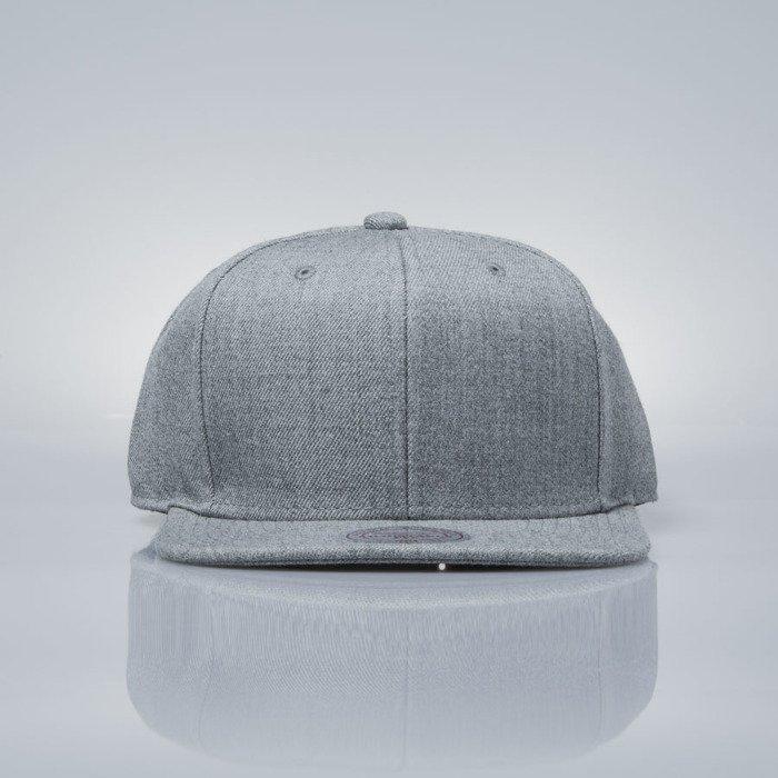b4533f24964fb Mitchell   Ness snapback cap M N grey heather EU930 SOLID COLOUR BLANK